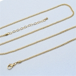 24 Inch Plus 2 Inch Extender Gold Stainless Steel 2.3mm Rolo Chain for Floating Locket
